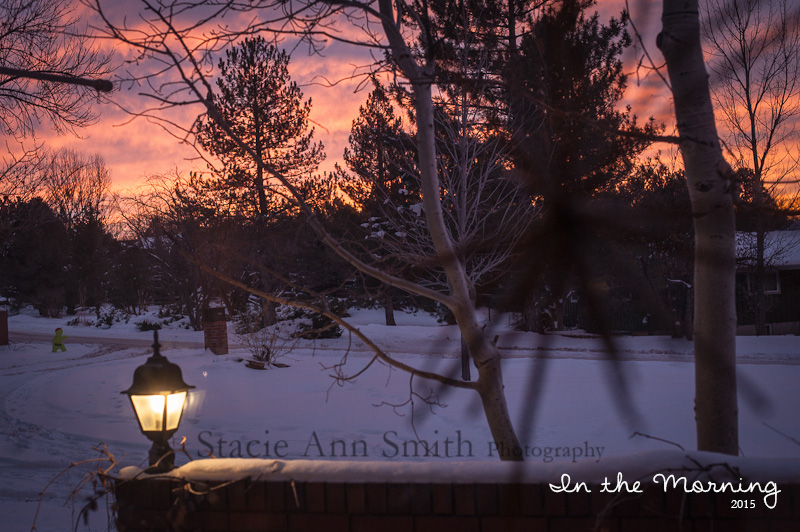 sunrise photograph on a winter morning