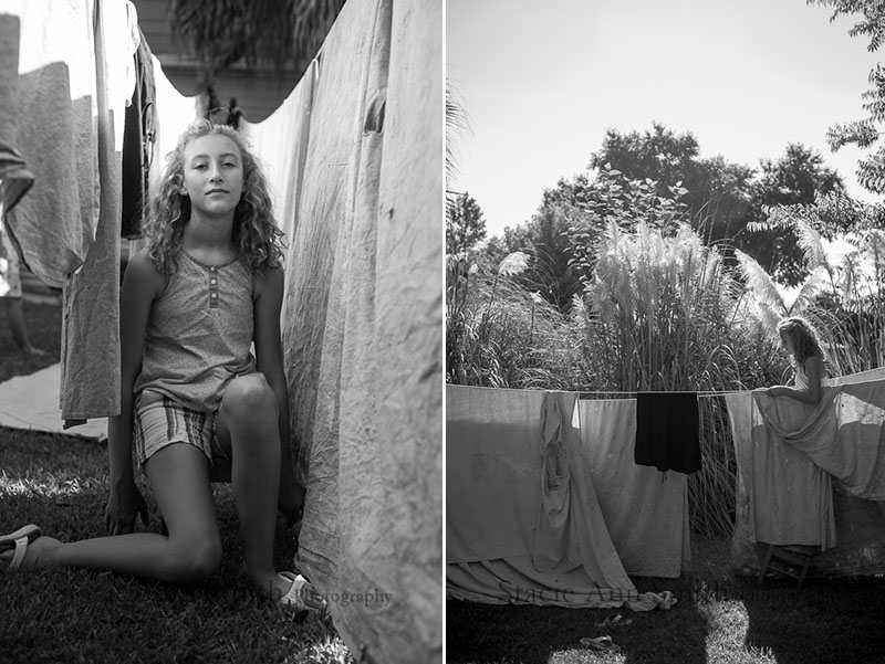 photograph between drying drop cloths, black and white, #stacieannsmith