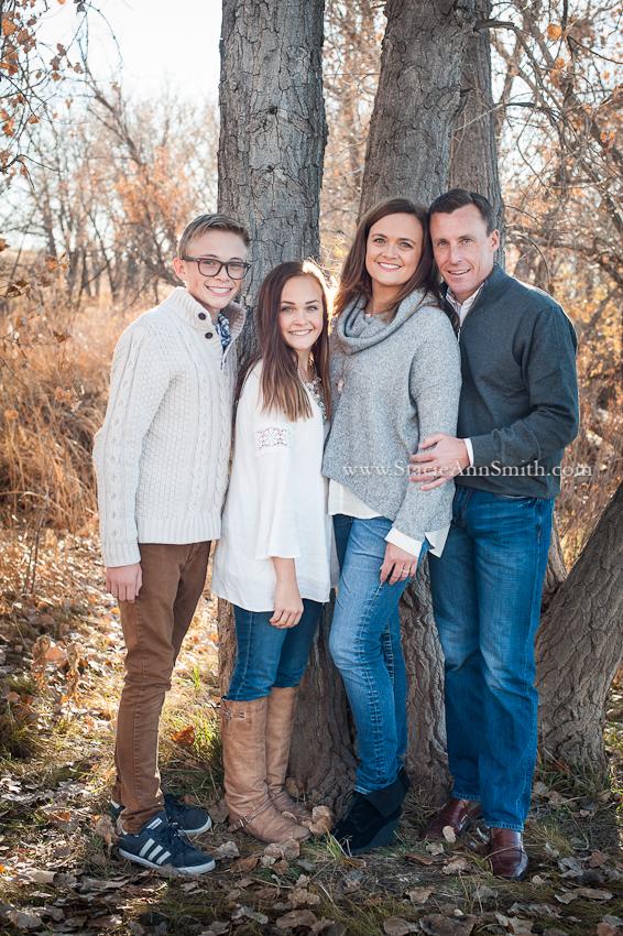 fall family portrait near Denver, Colorado